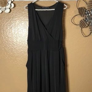 Large black stretchy women's dress